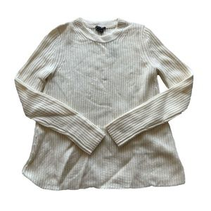 Theory Barda Ribbed Wool Cashmere Pullover Sweater